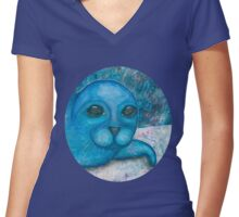Seal it Women's Fitted V-Neck T-Shirt