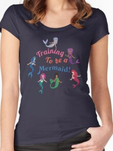 Training to be a Mermaid! Women's Fitted Scoop T-Shirt