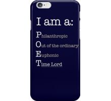 I am A POET.  iPhone Case/Skin