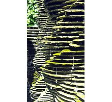 Water Drips on Slate Fountain Photographic Print