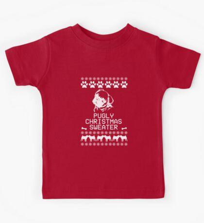 Pugly Christmas Sweater (White) Kids Tee