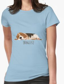 Beagles Womens Fitted T-Shirt