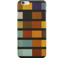 Abstraction #075 Blue Gold Black Blocks and Bars iPhone Case/Skin