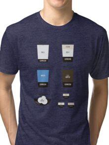 Espresso Drinks Diagram Tri-blend T-Shirt