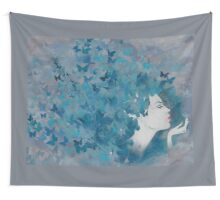 Flying Blues Wall Tapestry