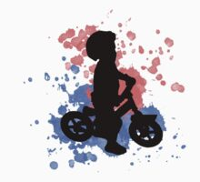 Balance Biker Red and Blue Rider Kids Tee