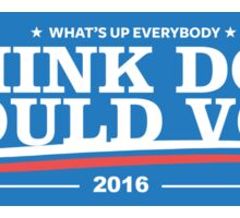 Dogs Should Vote 2016 Sticker Sticker