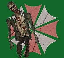 Concrete Umbrella Logo with Zombie by Charles Caldwell