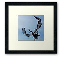 Bird on Bird Sculpture Framed Print
