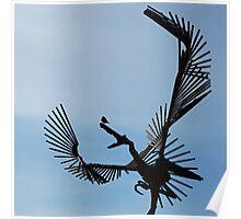 Bird on Bird Sculpture Poster