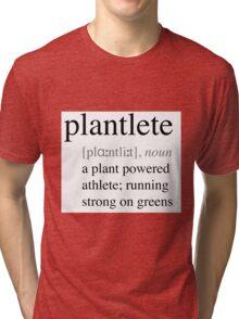 Plantlete - plant powered athlete Tri-blend T-Shirt