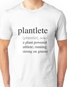 Plantlete - plant powered athlete Unisex T-Shirt
