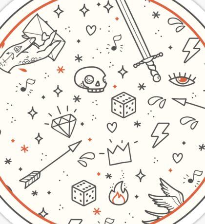 Home made tattoos rule Sticker