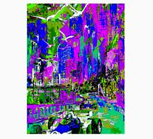 """""""MONACO GRAND PRIX"""" Psychedelic Abstract Painting Print Unisex T-Shirt"""