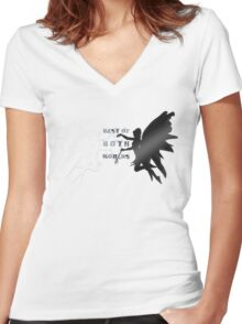Best of Both Worlds Women's Fitted V-Neck T-Shirt