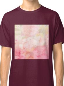 Pink,floral,water color,hand painted,beautiful,pastels,elegant,girly Classic T-Shirt