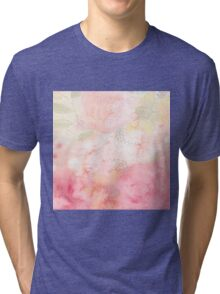 Pink,floral,water color,hand painted,beautiful,pastels,elegant,girly Tri-blend T-Shirt