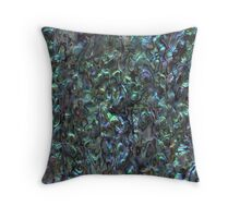 Abalone Shell | Paua Shell Throw Pillow