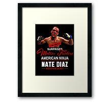 Nate Diaz Framed Print