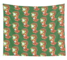 Chocolate Chip Mint Girl Wall Tapestry