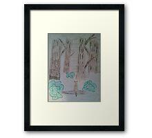 Fox in the mist Framed Print
