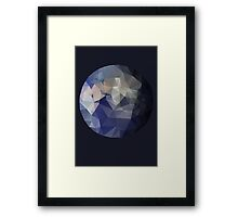 The Blue Planet - A Faceted View of the Planet Earth Framed Print
