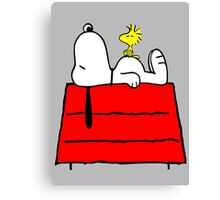 Snoopy chill out Canvas Print