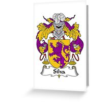 Silva Coat of Arms/Family Crest Greeting Card