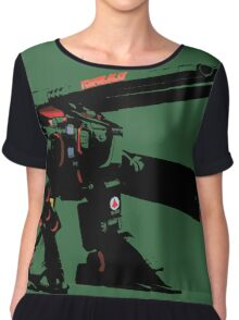 The Destroid Monster Chiffon Top
