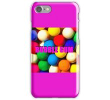 Bubble Gum with text iPhone Case/Skin