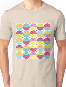 Retro,polka dots,big,cool,pattern,red,hot pink,yellow,orange,green,lime,purple Unisex T-Shirt