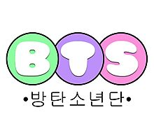 BTS/Bangtan Boys Bubbly Text Logo 2 Photographic Print