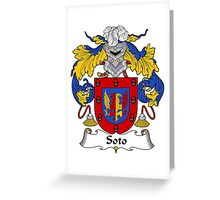 Soto Coat of Arms/Family Crest Greeting Card