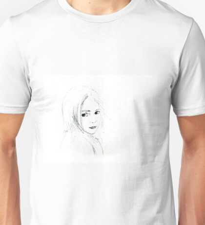'Ella' portrait of a little girl, alone.  Unisex T-Shirt
