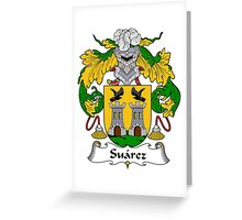 Suarez Coat of Arms/Family Crest Greeting Card