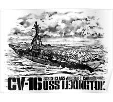 Aircraft carrier Lexington Poster