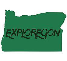 Exploregon Oregon State Photographic Print