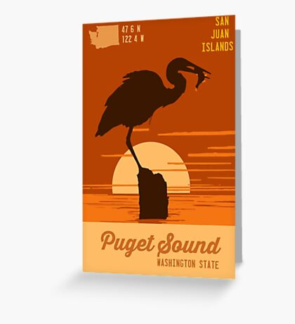 Puget Sound. Greeting Card