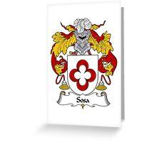 Sosa Coat of Arms/ Sosa Family Crest Greeting Card