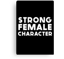 STRONG FEMALE CHARACTER GILLIAN ANDERSON Canvas Print