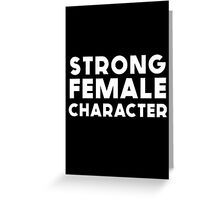 STRONG FEMALE CHARACTER GILLIAN ANDERSON Greeting Card