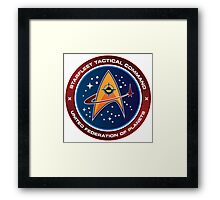 Starfleet Tactical Command Emblem Framed Print