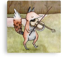 Violin Fox Metal Print