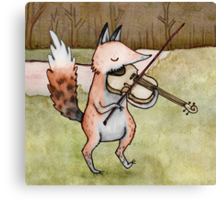 Violin Fox Canvas Print