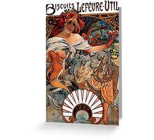 Mucha - Bicuits LeFevre-Utile Greeting Card