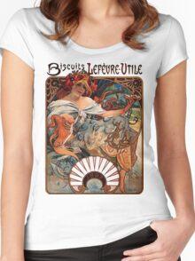 Mucha - Bicuits LeFevre-Utile Women's Fitted Scoop T-Shirt