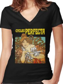 Mucha - Cycles Perfecta Women's Fitted V-Neck T-Shirt