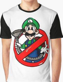 Ghostbuster Mashup Luigi Graphic T-Shirt