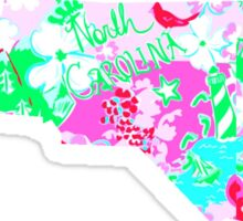 Lilly Pulitzer North Carolina Print Inspired  Sticker