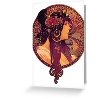 Mucha - Donna Orechini Greeting Card